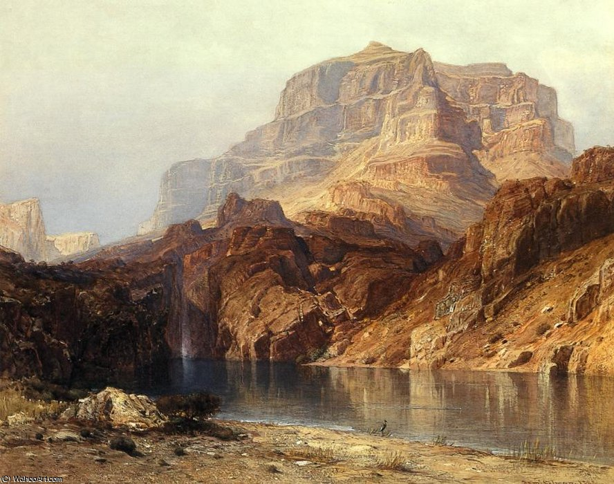 Solomon`s temple, colorado by Samuel Coleman Junior (1832-1920, United States) | Paintings Reproductions Samuel Coleman Junior | WahooArt.com