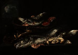 Abraham Hendriksz Van Beijeren - Still Life - Haddock, Plaice, Crabs and Lobster
