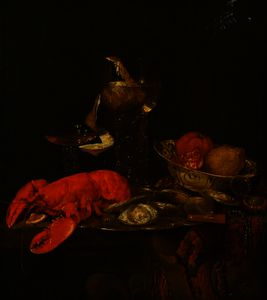 Abraham Hendriksz Van Beijeren - Still Life with a Lobster