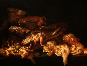 Abraham Hendriksz Van Beijeren - Still-life with Fish