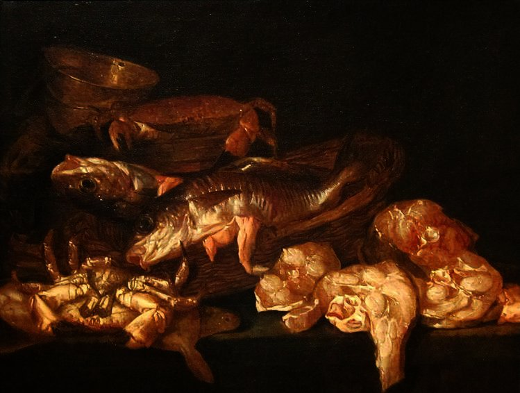 Still-life with Fish by Abraham Hendriksz Van Beijeren (1620-1690, Netherlands) | Painting Copy | WahooArt.com