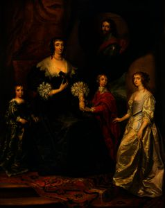 Anthony Van Dyck - Katherine Villiers, Duchess of Buckingham, with Her Children, Lady Mary Villiers (Later Duchess of Lennox); George Villiers, 2nd Duke of Buckingham, and Lord Francis Villiers