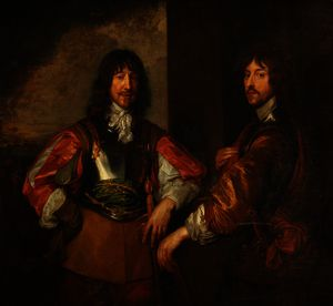 Order Paintings Reproductions | Mountjoy Blount, 1st Earl of Newport, and Lord George Goring by Anthony Van Dyck (1599-1641, Belgium) | WahooArt.com