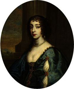 Anthony Van Dyck - Portrait of a Lady in Blue, Modelled on Queen Henrietta Maria