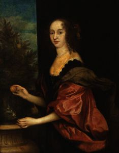 Anthony Van Dyck - Portrait of an Unknown Lady in the Pose of Dorothy, Countess of Sunderland