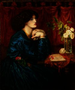 Dante Gabriel Rossetti - Blue Silk Dress (Jane Morris)