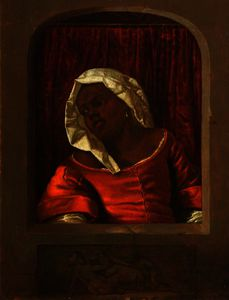 Gabriel Metsu - Head of a Negress in a Simulated Opening