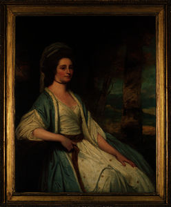 George Romney - Portrait of mrs cross