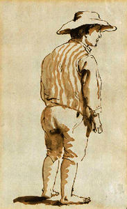 Giovanni Battista Tiepolo - A man seen from behind in a hat