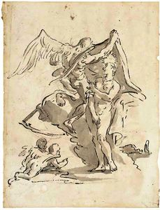 Giovanni Battista Tiepolo - ALLEGORY TIME revealing BEAUTY