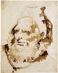 Giovanni Battista Tiepolo - Head of an oriental with a short beard