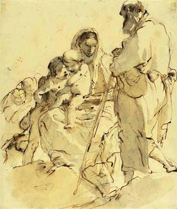 Giovanni Battista Tiepolo - The holy family with the infant baptist