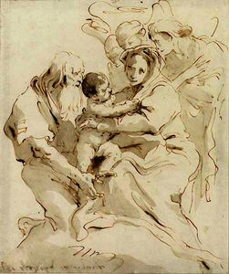 Giovanni Battista Tiepolo - The holy family with three angels
