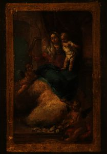 Giovanni Battista Tiepolo - The Madonna and Child Appearing in a Vision, in a Simulated Frame