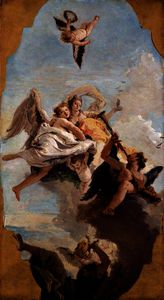 Giovanni Battista Tiepolo - Virtue and Nobility Putting Ignorance to Flight