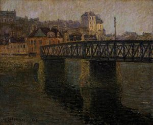 Gustave Loiseau - The iron bridge, st ouen