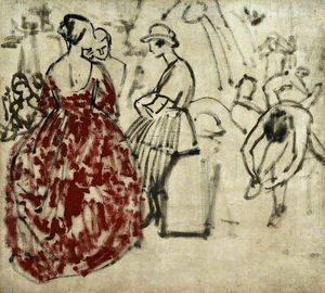 Dame Laura Knight - Sketch of Dancers
