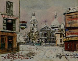 Maurice Utrillo - Church of saint peter and the sacred heart of montmartre