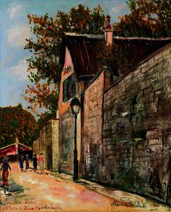 Maurice Utrillo - The saint vincent and the house of henri iv to montmartre