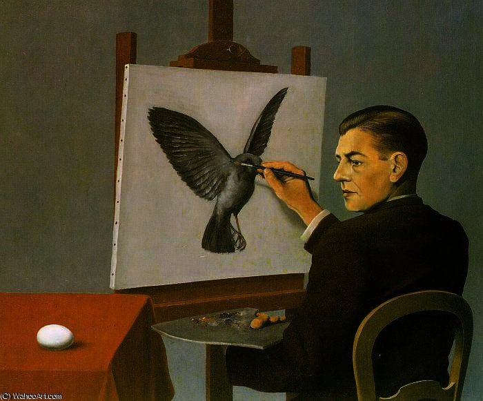 Exceptionnel by Rene Magritte (1898-1967, Belgium) FI88