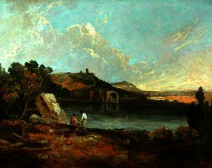 Richard Wilson - Italian lake scene