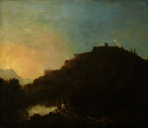 Richard Wilson - Landscape with a Castle and a Lake