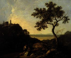 Richard Wilson - Tivoli; Temple of the Sibyl and the Campagna
