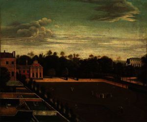 Richard Wilson - View of Carlton House, with a Royal Party in the Grounds