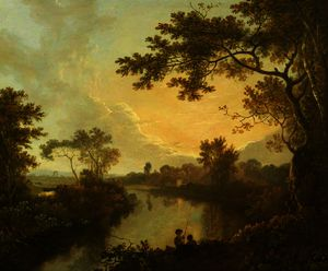 Richard Wilson - View of the River Dee near Eaton Hall, Cheshire