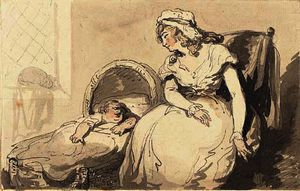 Thomas Rowlandson - Mother and child
