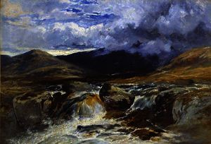 William James Muller - A mountain stream