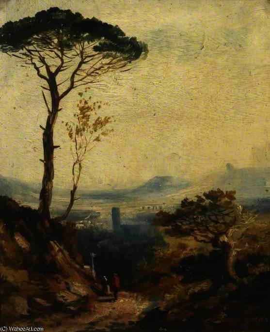 Landscape with a Pine Tree by William James Muller (1812-1845, United Kingdom) | Art Reproductions William James Muller | WahooArt.com