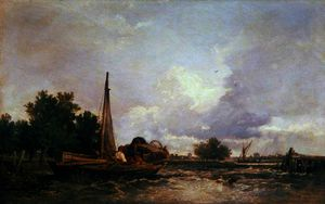 William James Muller - On the Medway, Kent