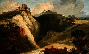William James Muller - The peak cavern, derbyshire, peveril castle