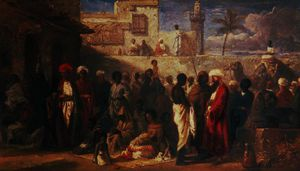 William James Muller - The Slave Market at Cairo, Egypt