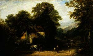 William James Muller - The village smithy