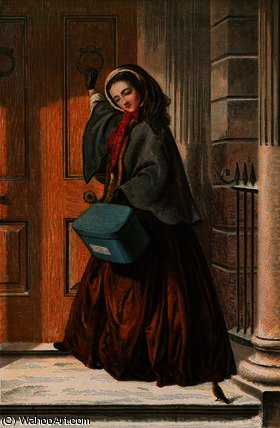 The christmas errand by Abraham Solomon (1823-1862, United Kingdom) | WahooArt.com