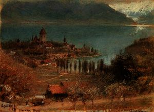 Albert Goodwin - Spietz, lake thun