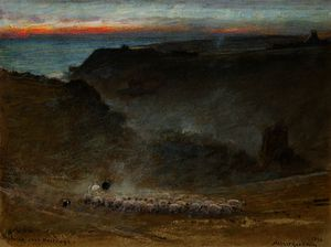 Albert Goodwin - The hills over hastings
