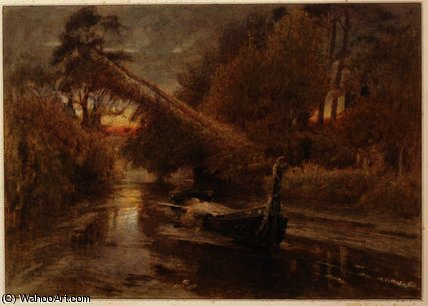 The Lady of Shalott by Albert Goodwin (2009-1932, United Kingdom) | Museum Quality Reproductions | WahooArt.com