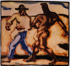 Albin Egger Lienz - Sower and the Devil