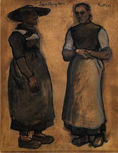 Albin Egger Lienz - The Sandpergerin Rottin and his wife