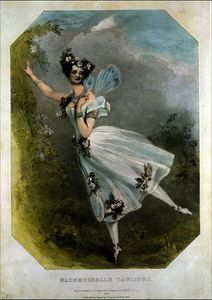 Alfred Edward Chalon - Marie Taglioni in 'Flore et Zephire'