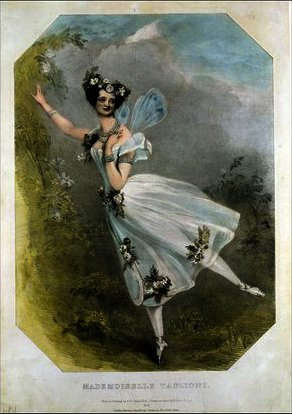 Order Famous Paintings Reproductions : Marie Taglioni in `Flore et Zephire` by Alfred Edward Chalon (1780-1860, Switzerland) | WahooArt.com