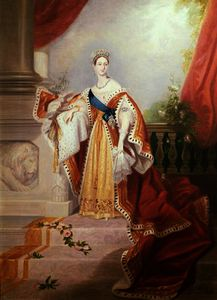 Alfred Edward Chalon - Portrait of Queen Victoria in Coronation Robes