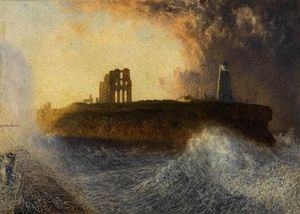 Alfred William Hunt - Tynemouth pier