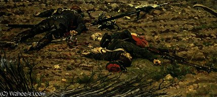 Episode of the War by Alphonse Marie Adolphe De Neuville (1836-1885, France)