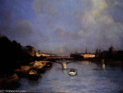 River seine by Antoine Vollon (1833-1900, France)