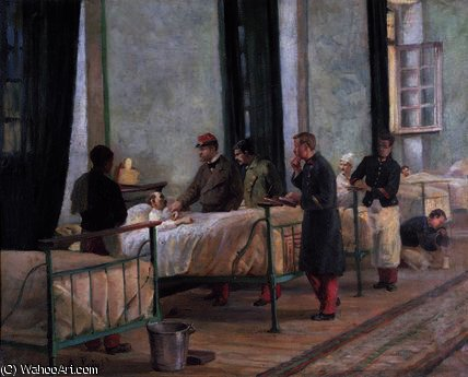 A Visit to the Philippeville Hospital in by Armand Point (1860-1932, Algeria) | Paintings Reproductions Armand Point | WahooArt.com