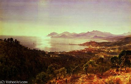 Cannes and the Esterels by Bernard Walter Evans (1843-1922, United Kingdom) | Reproductions Bernard Walter Evans | WahooArt.com